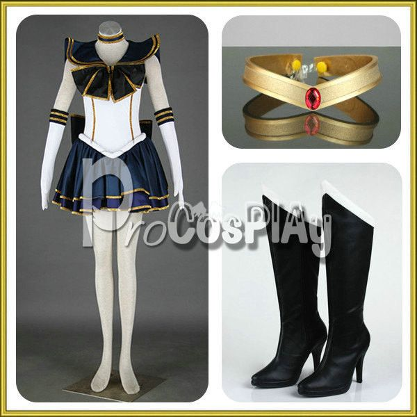 Sailor Moon Sailor Pluto Cosplay Costumes ($129) ❤ liked on Polyvore featuring costumes, cosplay halloween costumes, cosplay costumes, lady costumes, sailor moon cosplay costume and womens sailor halloween costume