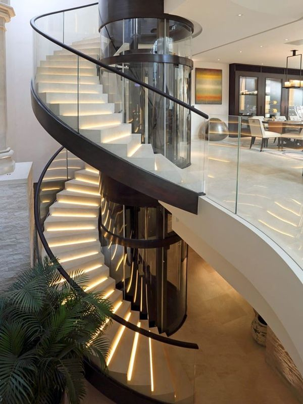 507 best stair images on pinterest interior stairs for Pre made spiral staircase