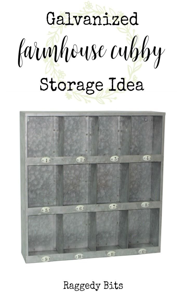 I LOVE this great galvanized farmhouse storage solution for a craft room, office or to display other wares! {afflink}