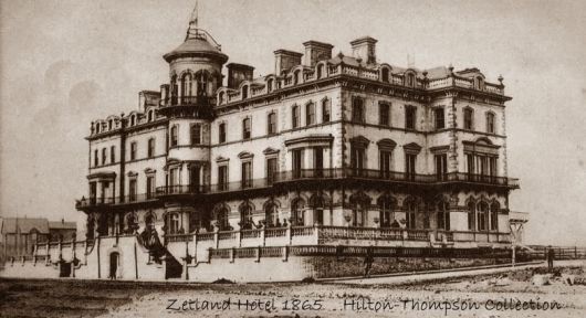 The Zetland Hotel 1865. The Stockton and Darlington Railway Company built the Zetland - reputed to be one of the world's first purpose built railway hotels with its own private platform - to a lavish scale in order to attract a wealthy class of customer. The Saltburn Improvement Company was also fully aware that others would view the Railway Company's investment as a show of confidence in the new town and attract further development.