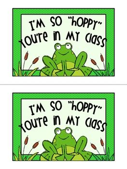 Froggie themed welcome postcards for back to school!   3 styles to choose from.   Prints 2 postcards per page.
