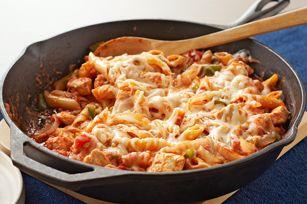 Italian Chicken-Pasta Skillet recipe: Kraft Recipes, Italian Chicken Pasta, Chickenpasta Skillets, Food, Skillet Recipes, Italian Chickenpasta, Chicken Pasta Skillets, Skillets Dinners, Grill Recipes