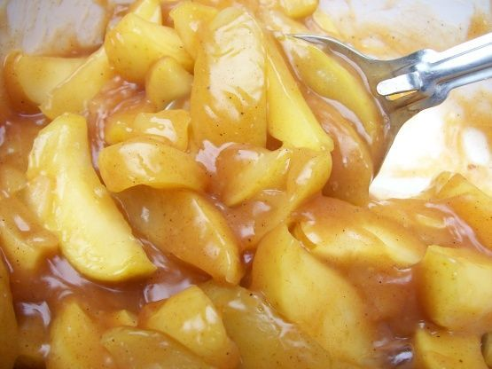 Cracker Barrel Fried Apples Recipe - Not sure how long they cooked the juices after, but I think I'd add some more cornstarch next time to get that thickness in the picture.