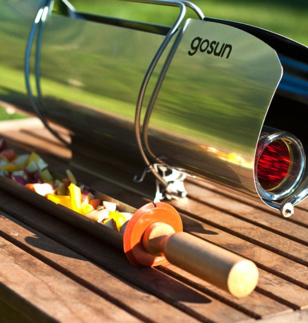 "GoSun Sport solar cooker: ""The Sport's compound parabolic reflectors and tubular design converts nearly 80% of all sunlight entering it's refectories into useable heat."" #solar #green #outdoors"