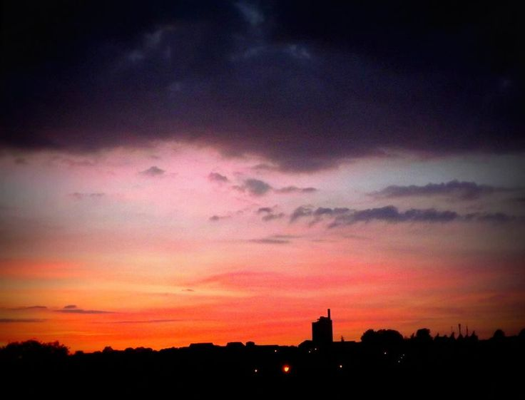 #Photography #Sunset #Rugby #Town #Cement #Works #SunColours