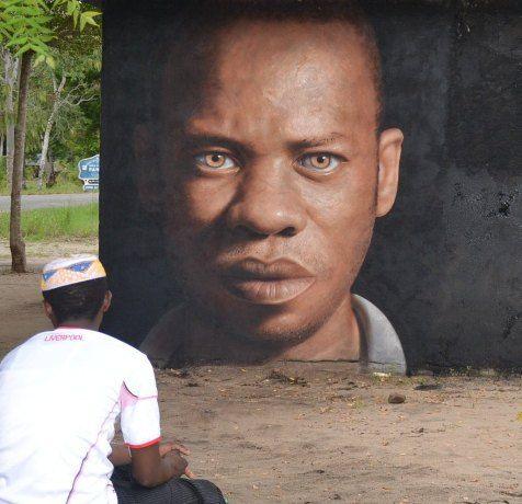 Street art by Jorit Agoch