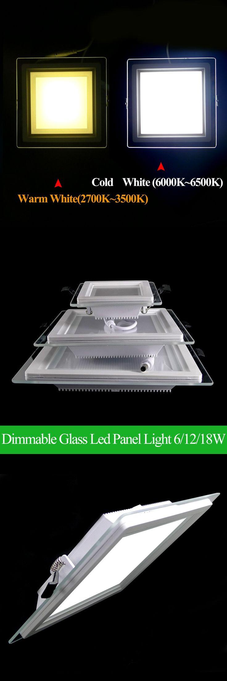 Dimmable LED Panel Downlight Super Bright Glass Square Ceiling Recessed Panel Lights SMD 5360 LED Spot Light Bulb AC110V 220V