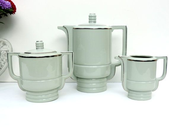 Art Deco Coffee Set By Epiag Of by SouvenirsdeVoyages on Etsy