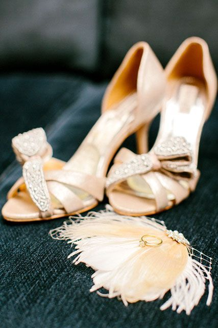 The Surprise That This Bride Never Saw Coming #refinery29  http://www.refinery29.com/100-layer-cake/94#slide-3  You can find these pretty Badgley Mischka heels and more wedding shoes here.