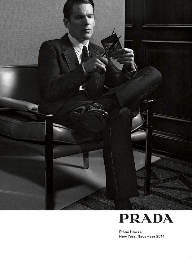 Ethan Hawke in Prada Spring/Summer 2015 campaign. Photographed by Craig McDean.