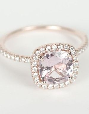 rubies.work/… Certified Peach Pink Cushion Sapphire Diamond Halo Rose Gold Engagement Ring