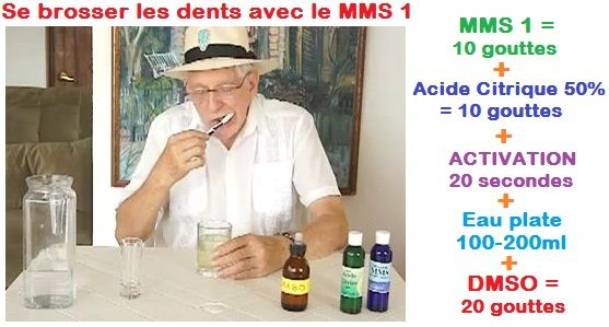 Je vais vous montrer comment guérir un abcès dentaire. Vous n'avez peut-être jamais entendu parler du MMS auparavant, mais il est très connu dans plusieurs pays du monde. Des milliers de personnes l'utilisent. Mettez10 gouttes de MMS 1 dans un verre vide et sec. Ensuite, pour l'activer, vous devezmettre 10 gouttes d'acide citrique à 50%.L'acide …
