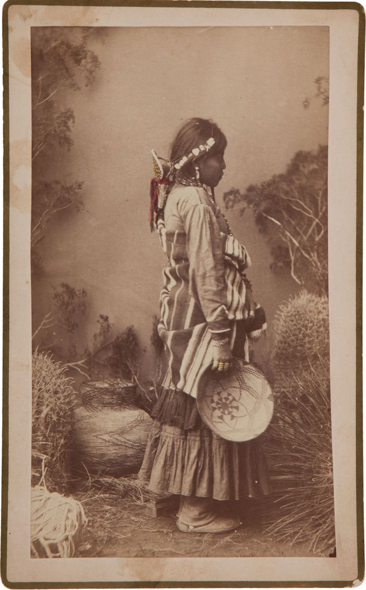 "American Indian Art:Photographs, ""CHIRICAHUA PRINCES,"" BOUDOIR PHOTO BY A. FRANK RANDALL, WILCOX,ARIZONA TERRITORY... Image #1"