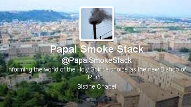 Papal Chimney Gets Twitter Account