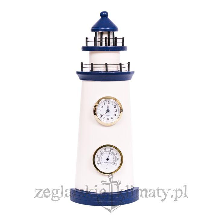 lighthouse decoration with clock and thermometer http://zeglarskieklimaty.pl/pozostale-produkty/238-latarnia-morska-zegar-i-termometr.html