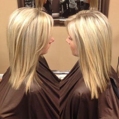 Heavy Platinum Blonde And Honey Highlights