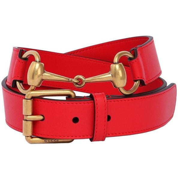 Gucci Women 30mm Horse Bit Leather Belt ($410) ❤ liked on Polyvore featuring accessories, belts, red, horsebit belt, red leather belt, leather belt, gucci and gucci belt