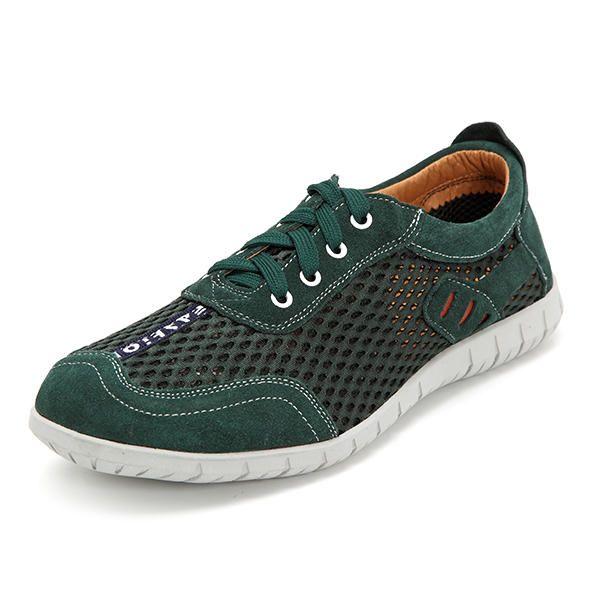 US Size 6.5-12 Men Breathable Outdoor Lace Up Casual Mesh Sneakers - US$40.77