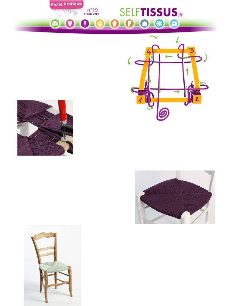Les 37 meilleures images du tableau a sur pinterest cannage chaises et bri - Refaire assise de chaise ...