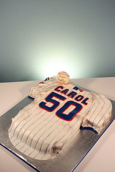 Chicago Cubs Jersey 50th Birthday cake