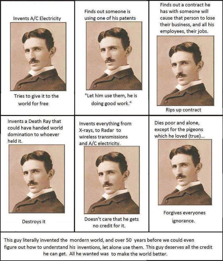Tesla... True human.
