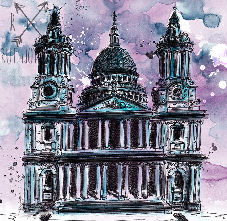 St Paul's Cathedral is one of my favourite buildings in London, so of course I had to do a painting of it with my own slightly dark twist 🤗🖤 You can grab prints here 👉   #etsy #christmas #stpauls #architecture #historylovers #artist