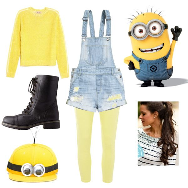 Homemade Minion costume by laurenbug01 on Polyvore featuring N°21, H&M, Dorothy Perkins, Charlotte Russe and Piers Atkinson