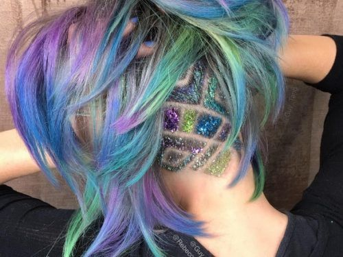 Is This Rainbow Undercut The Coolest Hairstyle Ever