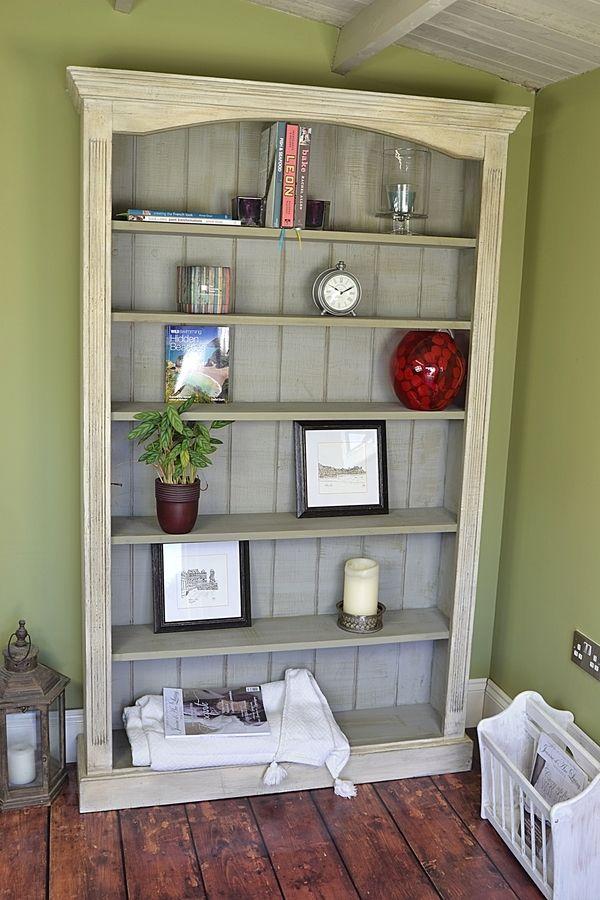 Large Slimline Shabby Chic Bookcase artwork  Future home