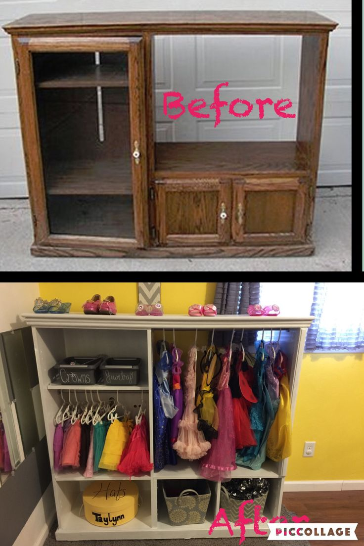 Dress up area Dress up play Little girls bedroom Diy tv stand