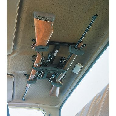 Overhead Gun Rack... something for my Christmas list!!  That would be awesome in my truck!!