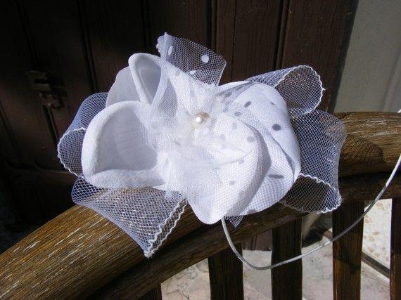 Bibi bijoux de cheveux pureté de blanc mariage,noce,fête ou cérémo