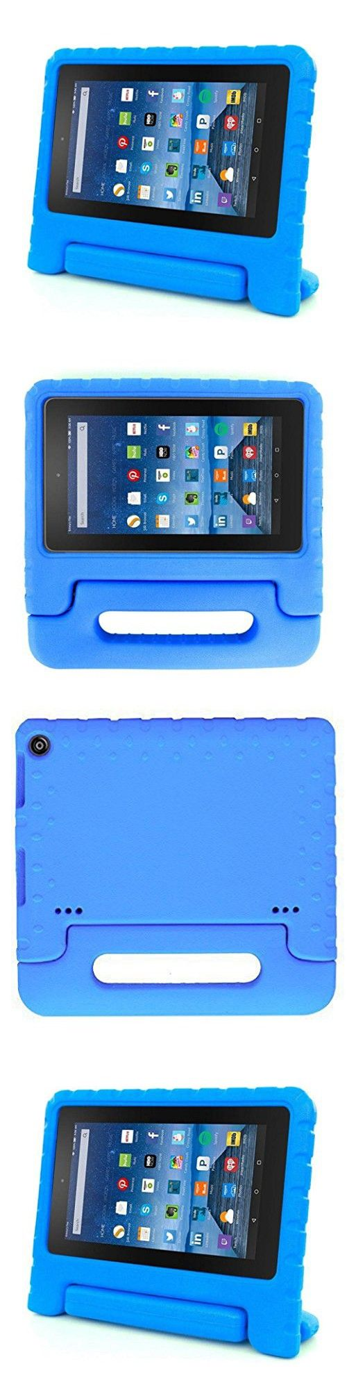 GBSELL New Kids Shock Proof Case Cover For All-New Amazon Kindle Fire HD 8 (6th Gen 2016) (Blue)
