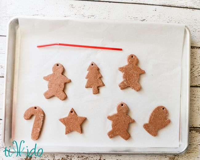 Gingerbread Salt Dough Ornament Recipe and Tutoria…