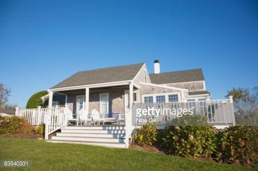 Coastal Cottage Nantucket Massachusetts Stock Photo   Getty Images