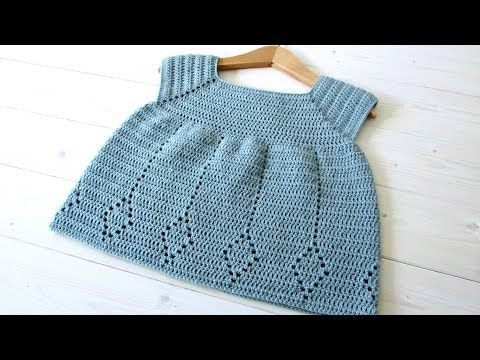 How to crochet a little girl's diamond dress - the Winnie dress - YouTube