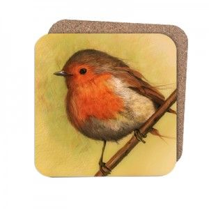 bird song - Coasters Dimensions: 95mm x 95mm. Pack of 4, Cork backed, stain resistant and wipe clean.  www.bespo.co.uk/zdraleaioana/store/products/bird-song/