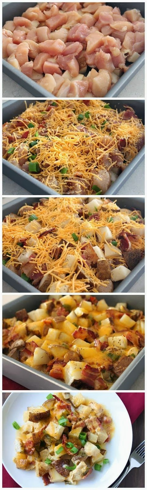 Loaded Baked Potato & Chicken Casserole |