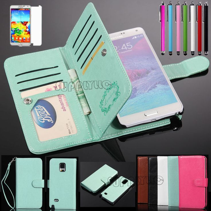 For Samsung Galaxy Note 4 Note 5 Magnetic Flip Cover Stand Wallet Leather Case #UnbrandedGeneric