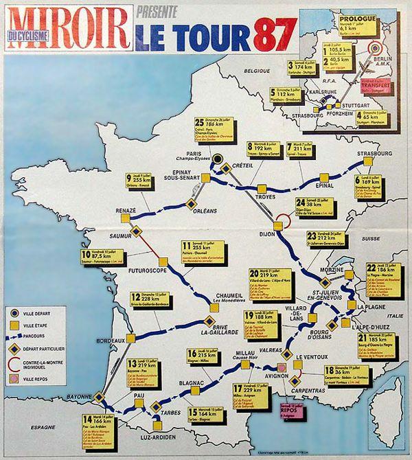 257 best le tour de france images on pinterest cycling art 1987 tour de france map gumiabroncs Choice Image