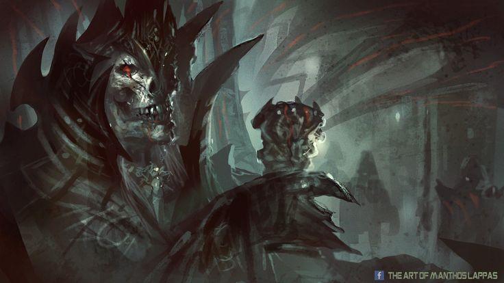 "Manthos Lappas, Skeleton Lord spitpaint ""Skeleton Lord! >:D"""