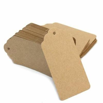 100 Etiquettes Tags en Papier Kraft Carte Feuille Scrapbooking présent Artisanat - Achat / Vente embellissement 100 Etiquettes Tags en Papi... - Cdiscount