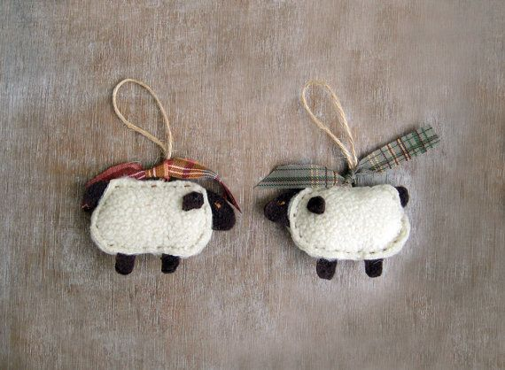 727 best christmas crafts part 2 images on pinterest for Sheep christmas ornament craft