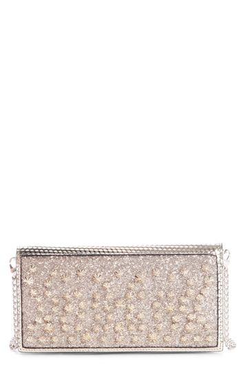 0ecf129f528 New Christian Louboutin Boudoir Studded Wallet on a Chain Women's ...