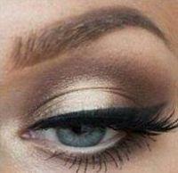 tutoriel maquillage marron et doré pour yeux bleus et grands