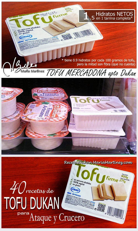 Tofu Mercadona, solo 1.5 hidratos NETOS para la tarrina entera. Apto para cualquier dieta baja en hidratos (Dukan, Atkins, Paleo, Keto, etc)