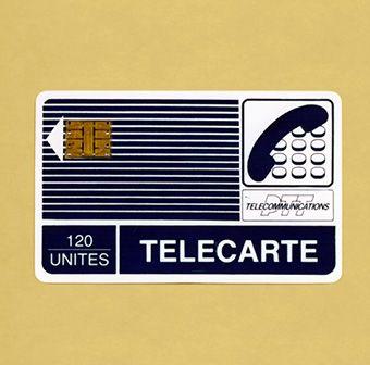 1974: invention de la carte à puce par Roland Moreno, élément précurseur de l'apparition des cartes de téléphone