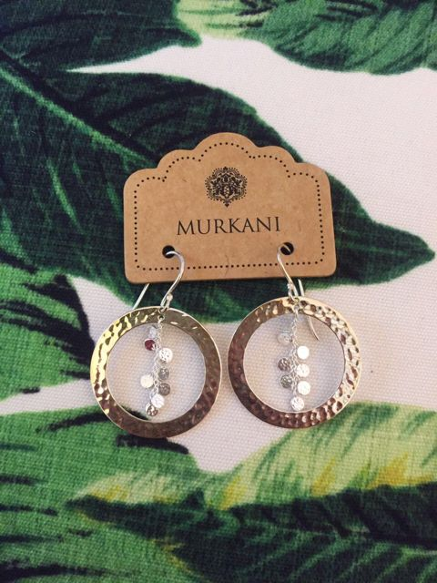 Murkani Grace Hoop Earrings    now available in Sterling Silver, Rose Gold Plated and 18 KT Yellow Gold Plated