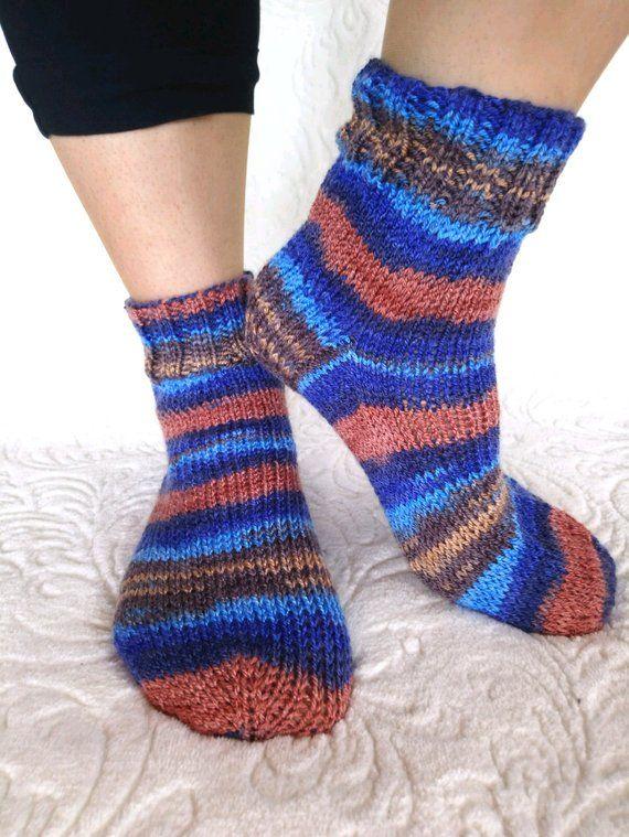 c2e5dbfc34d86 Knit bed socks, soft womens socks, socks womens, knitted socks, vegan socks,  striped socks, unisex socks, boys socks, vegan winter socks | ♥ ETSY | Socks,  ...