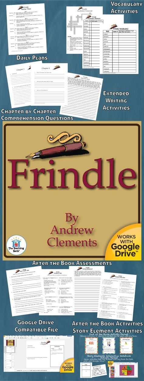 Frindle Novel Study is a Common Core Standard aligned book unit to be used with Frindle by Andrew Clements. This download contains both a printable format as well as a Google Drive™ compatible format.